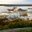 September evening view of the oldest part Nizhny Novgorod — Stock Photo