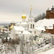 Winter december view of Church Elijah the Prophet and Kremlin Ni — Stock Photo