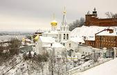 Winter december view of Church Elijah the Prophet and Kremlin Ni — Stock Photo