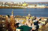 October autumn view of colorful Nizhny Novgorod Russia — Stock Photo