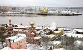 Winter russian ancient city Nizhny Novgorod Russia — Stock Photo