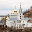 Spring view Church of Elijah the Prophet and Kremlin Nizhny Novg — Stock Photo