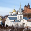 March view Church of Elijah the Prophet and Kremlin Nizhny Novgo — Stock Photo