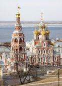 March view Stroganov Church Nizhny Novgorod — Stock Photo