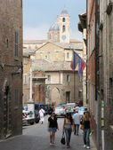 Street of old Urbino Italy — Stock Photo