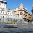 Fountain in Piazza De Ferrari Genoa Italy — Stock Photo