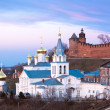 Panoramic spring view church and Kremlin Nizhny Novgorod — Stock Photo