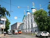 Historic Dobrolyubova street Nizhny Novgorod — Stock Photo