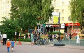 New modern playground for children — Stock Photo