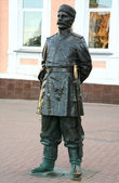 Sculpture Policeman of the 19th century — Stock Photo