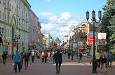 Evening summer view Bolshaya Pokrovskaya street — Stock Photo