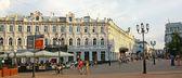 Evening view Bolshaya Pokrovskaya street — Stock Photo