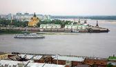 Evening cruise on the river in Nizhny Novgorod — Foto Stock