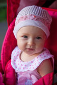 Portrait of a girl baby on the street — Foto Stock
