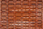Wicker basket close-up photo texture with shallow depth of field — Stock Photo