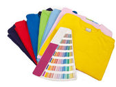 Color scale and t shirts — Stock Photo