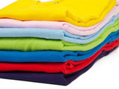 Stack of t shirts — Stock Photo
