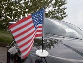 Usa flag on car — Stock Photo