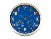 Blue wall clock — 图库照片