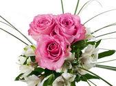 Róże i alstremerię — Zdjęcie stockowe