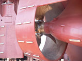 Propeller and rudder — Stock Photo