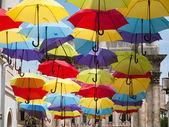 色とりどりの傘 — ストック写真