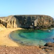 Papagayo beach at Lanzarote. — Stock Photo