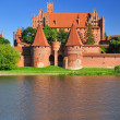 Teutonic castle in Malbork, Poland. - Stock Photo