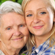 Stock Photo: Grandmother and granddaughter.