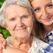Grandmother and granddaughter. — Stock Photo #18935907