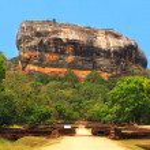 Famous Sigiriya rock. Sri Lanka — Stock Photo #18936235
