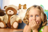 Little girl in her room. — Stock Photo