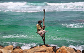 Fisherman in Sri Lanka — Stock Photo