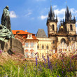 Old town in Prague. - Stock Photo