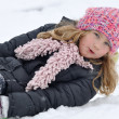 Young girl in a winter scene. — Stock Photo #19070325