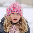 Young girl in a winter scene. — Stock Photo #19070421