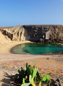 Papagayo beach, lanzarote, spanje. — Stockfoto