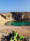 Playa de papagayo, lanzarote, españa. — Foto de Stock