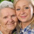 Grandmother and granddaughter. — Stock Photo #28320555