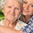 Grandmother and granddaughter. — Stock Photo #28320577
