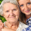 Grandmother and granddaughter. — Stock Photo #28320587