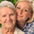 Grandmother and granddaughter. — Stock Photo #28320589