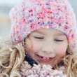 Young girl in a winter scene. — Stock Photo