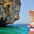 Lond boat in Thailand, Kho Phi Phi near Phuket. — Stock Photo