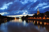 Wroclaw by night. — Stock Photo