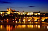 Prague. Charles Bridge at dawn. — Stock Photo