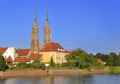 Ostrow Tumski in Wroclaw, Poland. — Stock Photo
