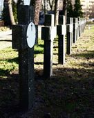 Crosses  on abandoned cemetery — Stock Photo