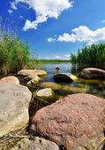 Shore of the lake — Stock Photo