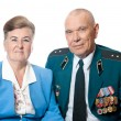Stock Photo: Portrait of elderly couple